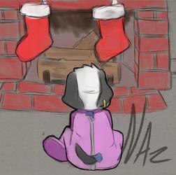 Twotone Waiting for Santa