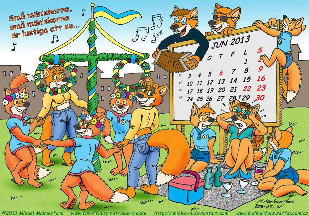 Fox Calendar 2013 - June