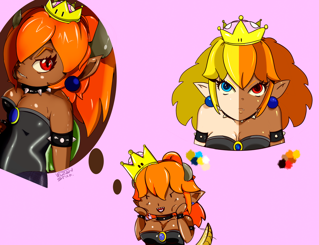 Most recent image: Bowsette sketches [COLOR]