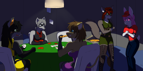 Card Night with the Heroines