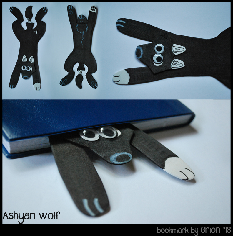 Ashyan wolf bookmark