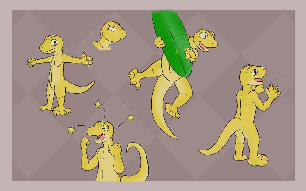 Banana Lizard Doodle