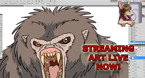 ART STREAM Shading for Video Game Monster: Monkey