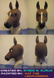 Painted Gas Mask: Bay Horse