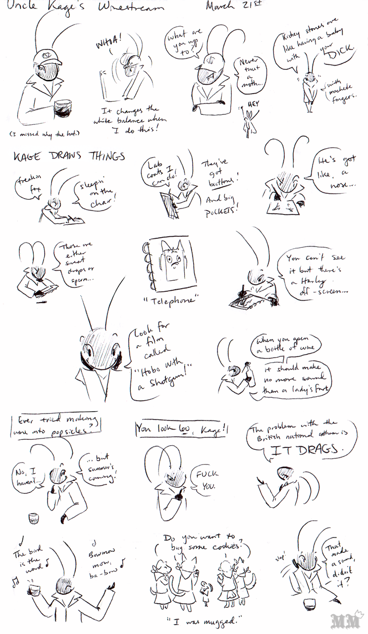 Uncle Kage Winestream March 21st 2015 Doodles