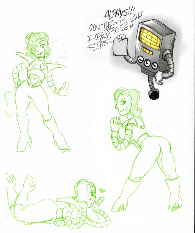 Mettaton sketch page