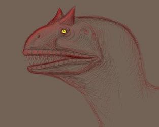 Carnotaurus Face