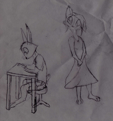 April & Jack Sketch
