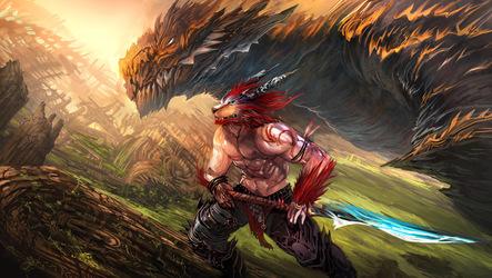 Eastern and western dragon