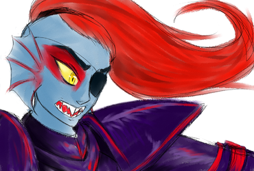 Undyne, the Spear of Justice (old)
