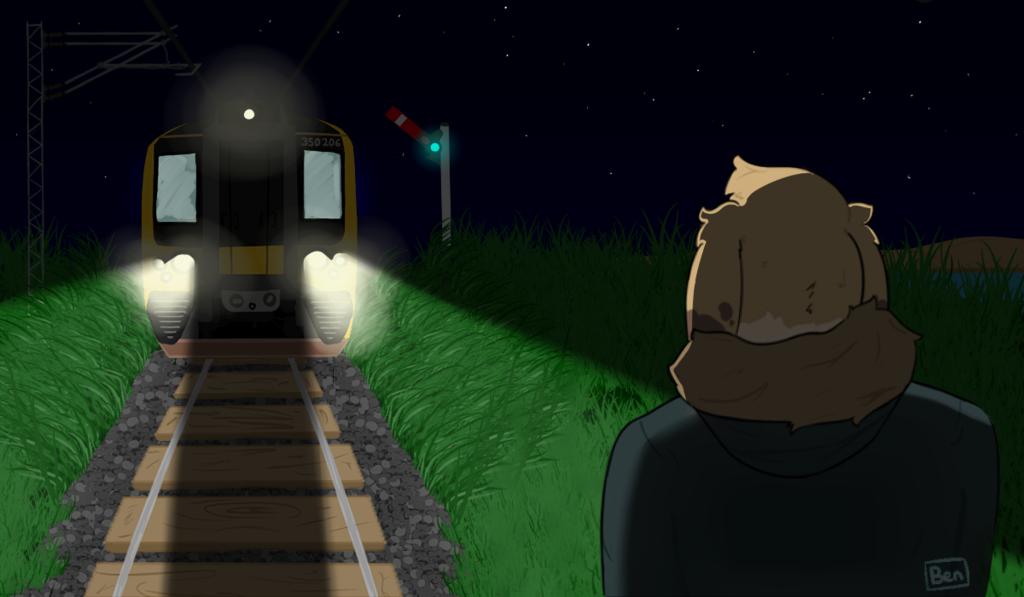 I can hear my train comin'