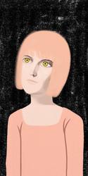 Girl Portrait of Digital Oil Painting