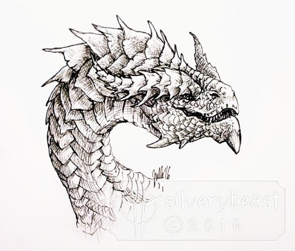 Inktober #4 | Dragon