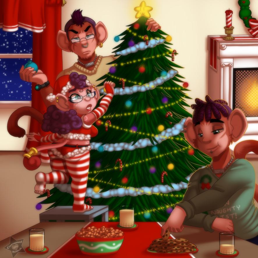 Christmas with the Saru Siblings