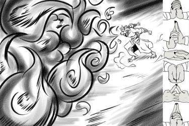 Rinji's Primary Jutsu: Fire Style - Fireball Jutsu
