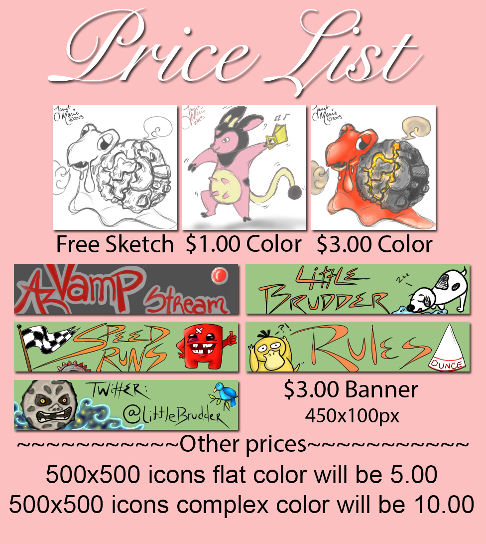 Most recent image: Price Sheet