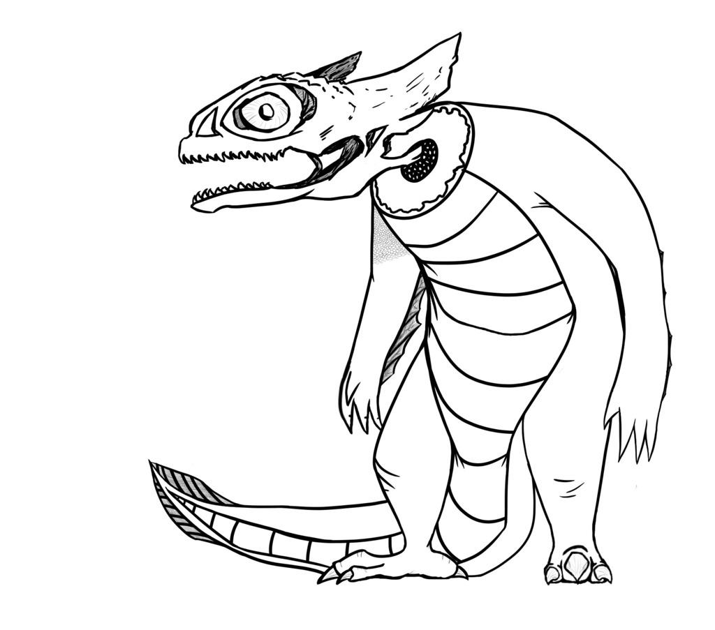 Most recent image: Skull Lizard (WIP