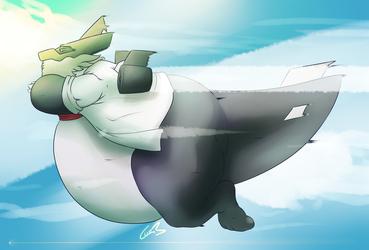 Stu the aerofat jet plane