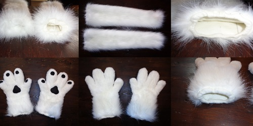 Part- Suit (Handpaw's + Arm warmers) 2/4
