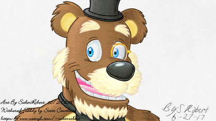 That dapper old Snappy Snazbear (Withered Freddy)