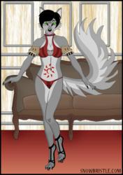 An anthro wolf