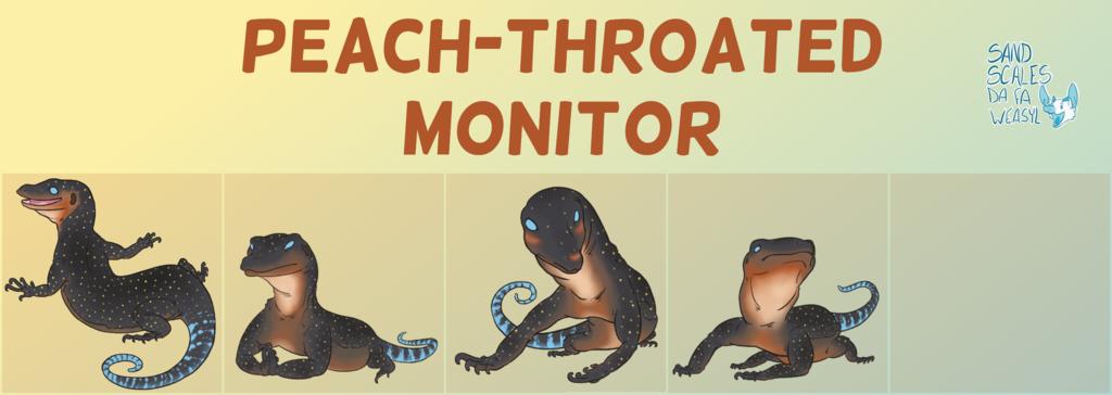 Telegram Stickers - Peach-Throated Monitor
