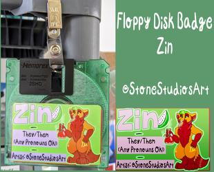 Floppy Disk Badge Zin