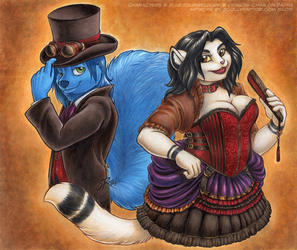 Steampunk Dusty and Dchan
