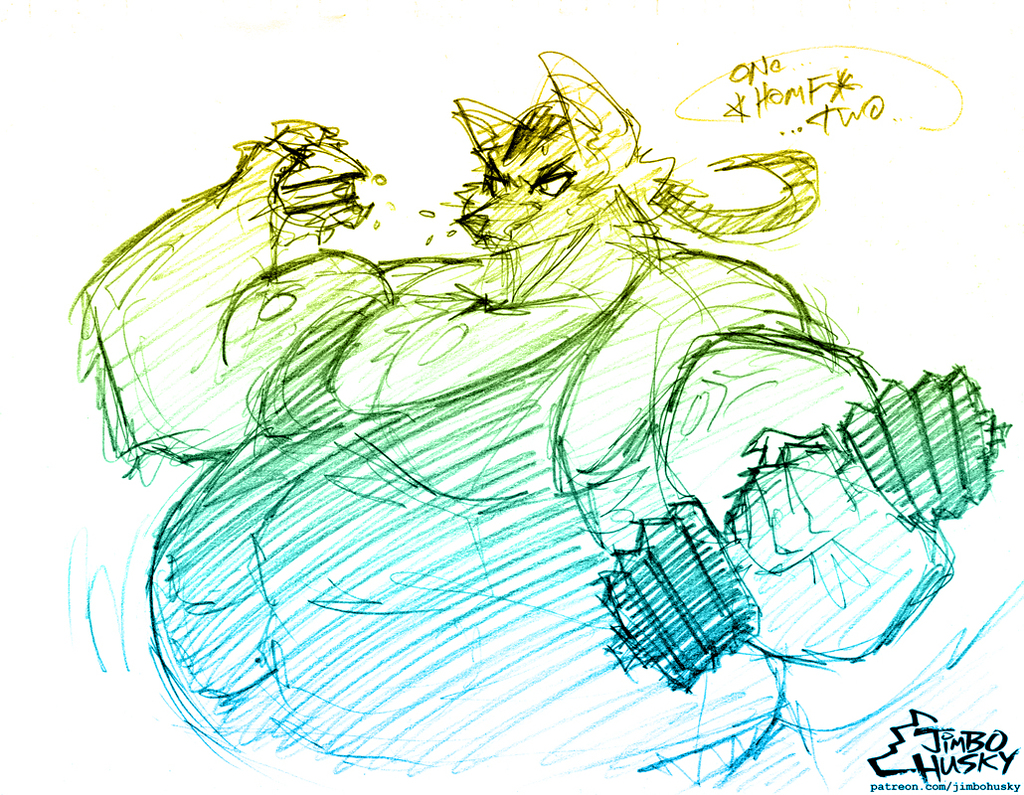 fenris56 musclegut sketch!