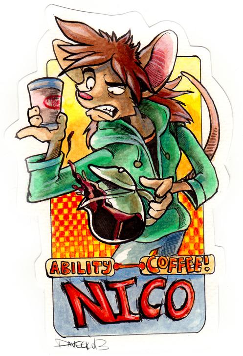 VancouFur 2013 Badge - Nico