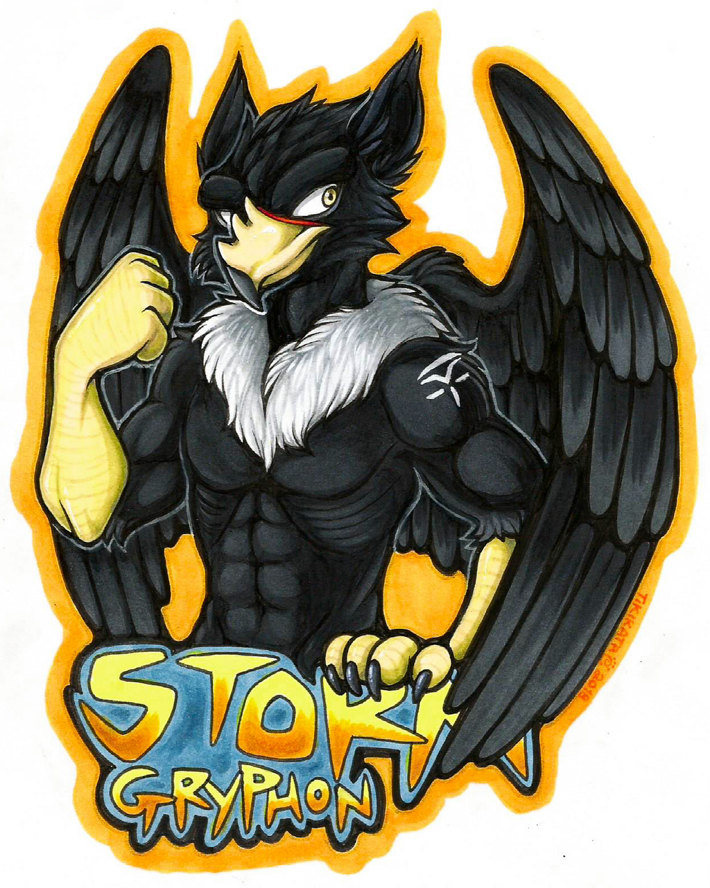 Storm Gryphon Badge (Commission)