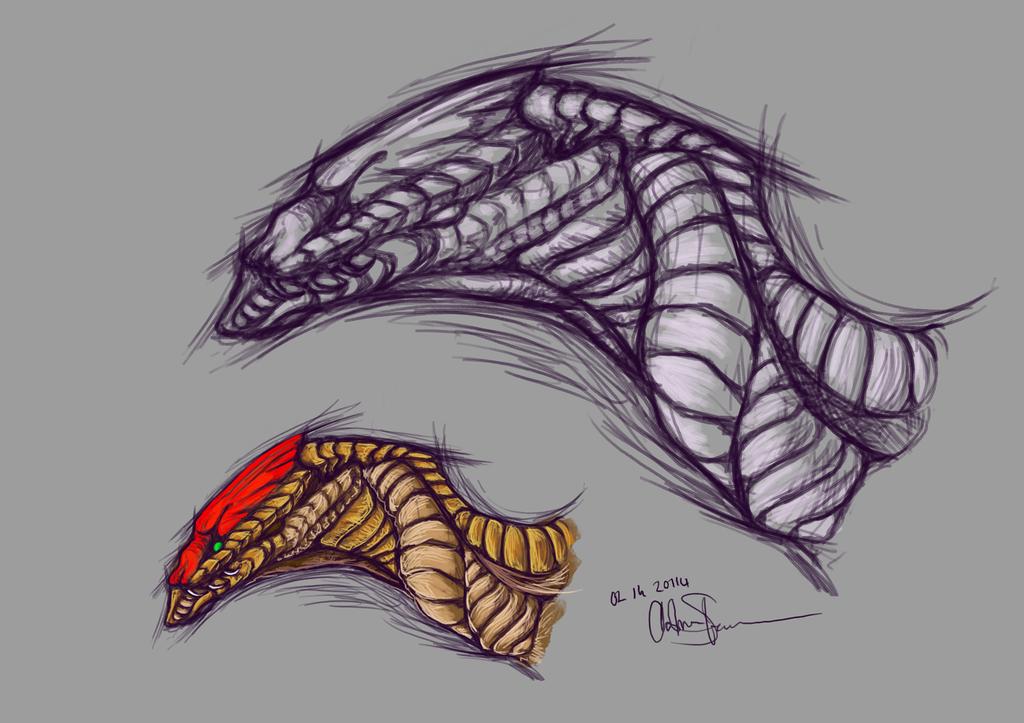 Dragon Design No.001 - Snake