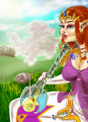 Blaze Up Smash: Princess Zelda