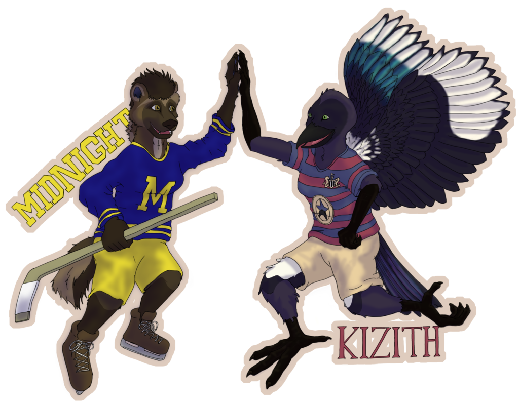 Sportsball badge: Midnight & Kizith
