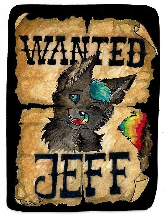 Jeff Wanted Badge