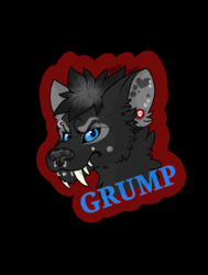 Grump Headshot Badge