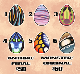 Egg Adoptables - OPEN - 2/6 Available!