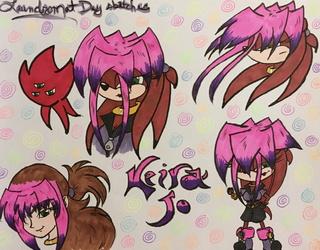 laundromat art: Keira-Jo doodles