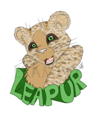Commission - Leapur Flat Color Badge