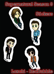 Supernatural S9 Stickers