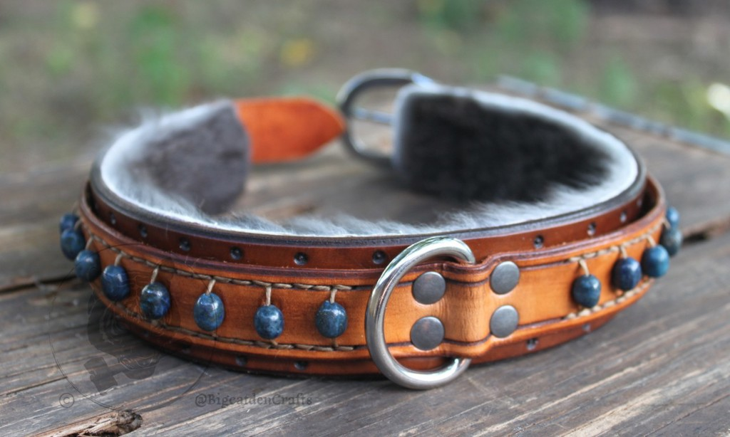 Lapis Beaded Collar