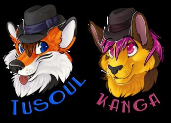 BLFC 2013 badges : Tusoul and Kanga