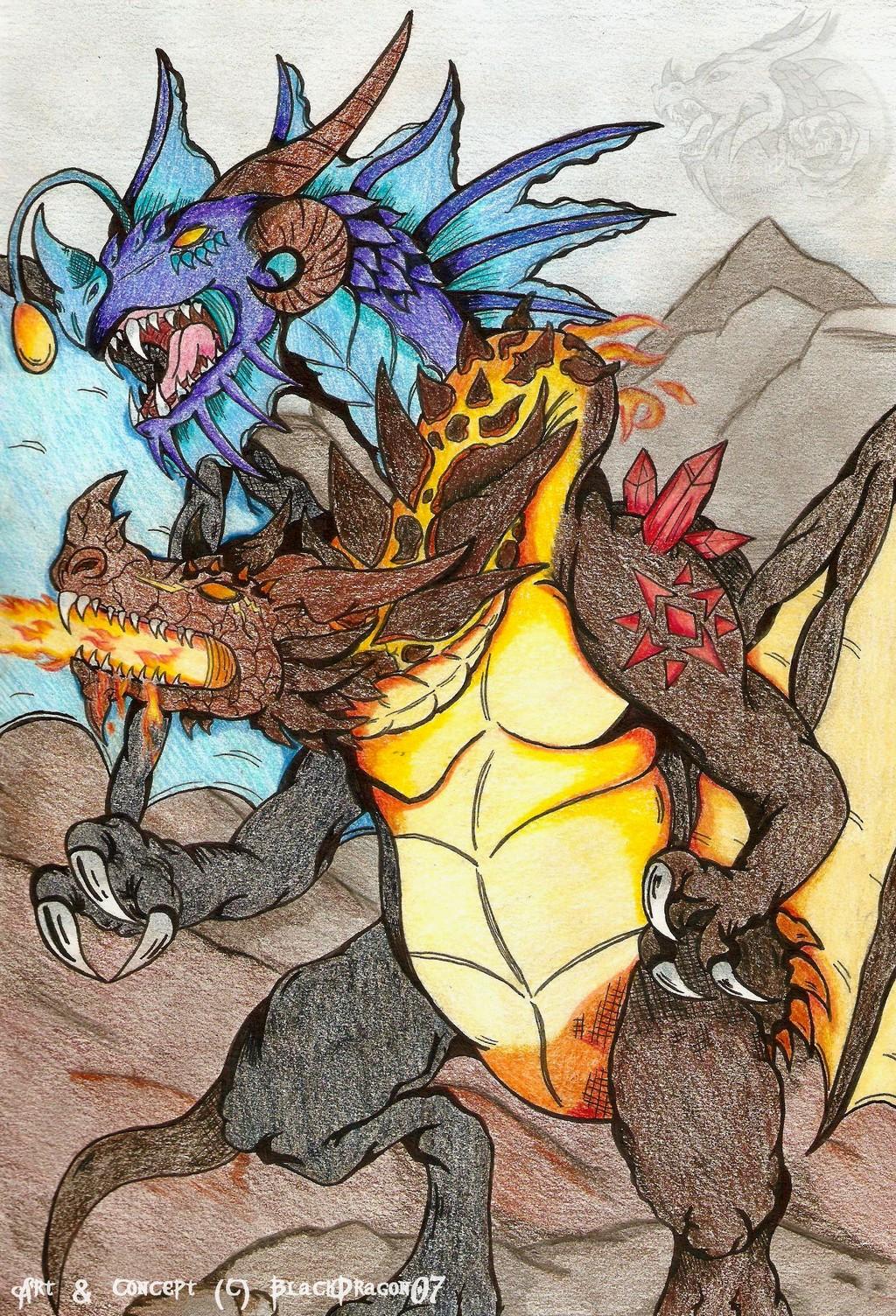 Twin headed dragon