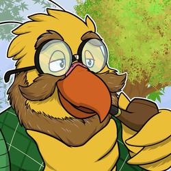 [COMM] Bearded Bird Blows Bubbles (Animated)