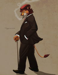 L for Lion in a Suit