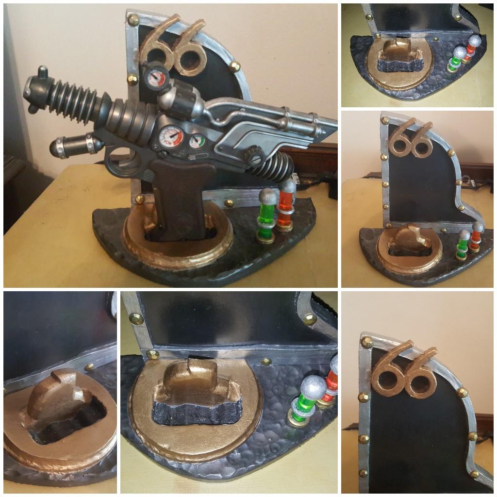 Custom  Dr. Grordbort's Saboteur 66  Raygun Stand:  2.0