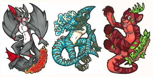Crimson, Sifirix, & Blizzard Badges (MCFC 2016)