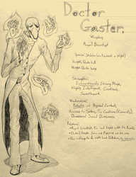 DOCTOR GASTER Character Sheet