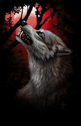 BloodMoon - Werewolf shirt design