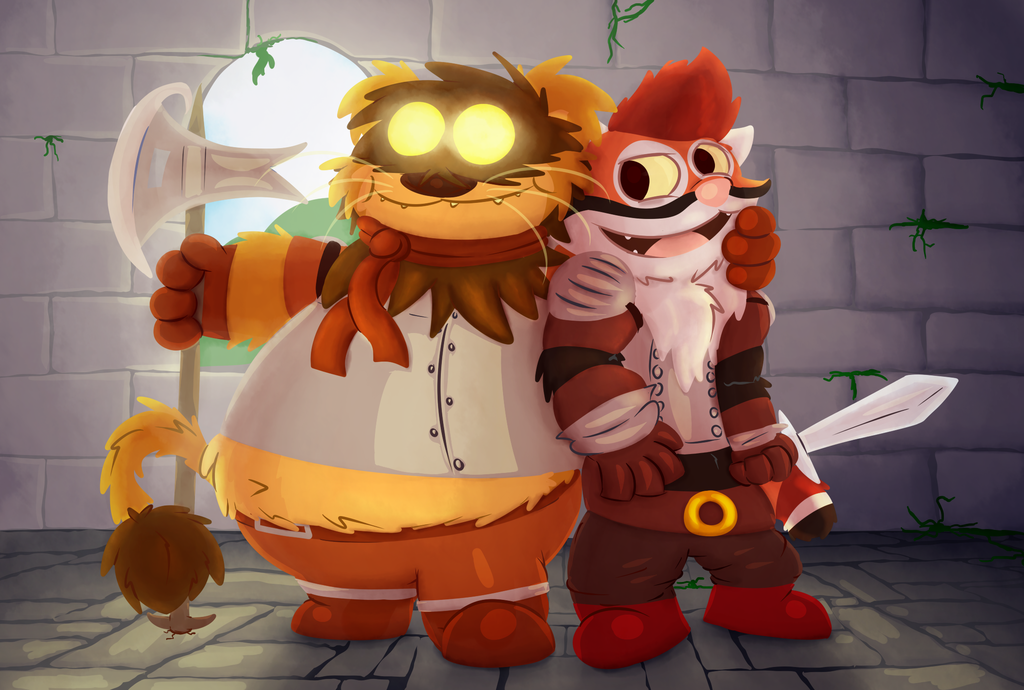 Tangui and Gree is ready for the dungeon